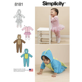 Pattern 8181 Babies' Knit and Fleece Rompers