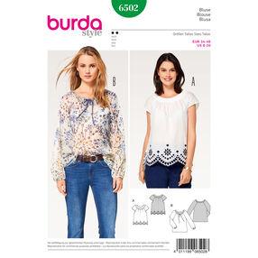 Burda Style Pattern B6502 Misses' Peasant Blouses
