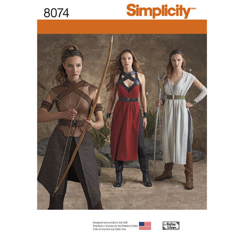 Simplicity Pattern 8074 Misses' Warrior Costumes
