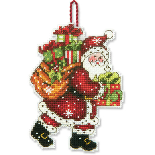 Santa with Bag Counted Cross Stitch Ornament_70-08912