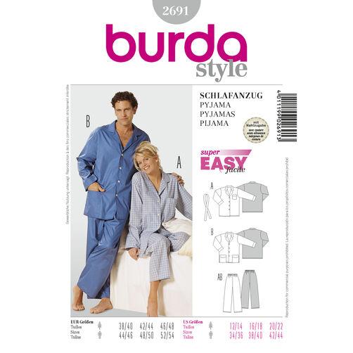 Burda Style Pattern 2691 Pyjamas