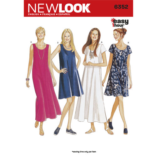 New Look Pattern 6352 Misses Dresses