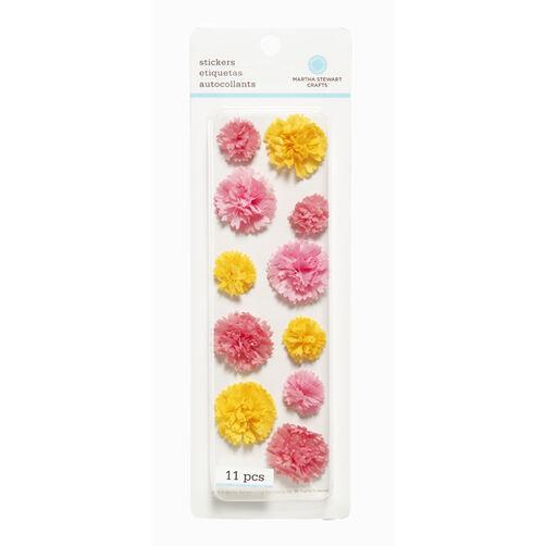 Pink Layered Pom-Pom Stickers_41-00140