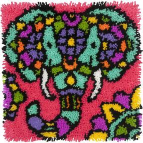 Colorful Elephant Latch Hook_72-74998