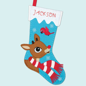 Rudolph Stocking, Felt Appliqué_72-08286