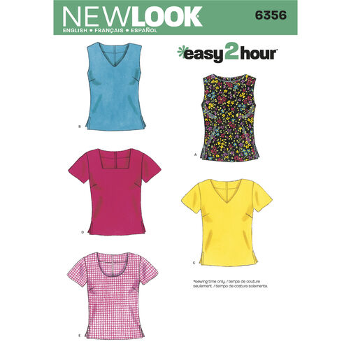 New Look Pattern 6356 Misses Tops