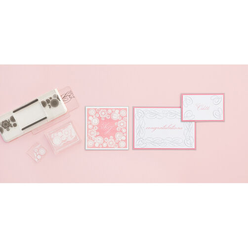 Calligraphy and Doily All Around the Page Stamp & Template set_40-24038