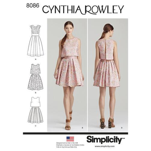 Cynthia Rowley Sewing Patterns: Pattern 8086 Misses' Dress By Cynthia Rowley