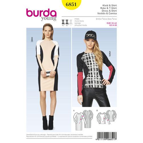 Burda Style Pattern 6851 Dresses