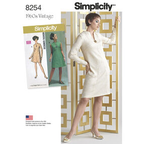 Simplicity Pattern 8254 1960s Vintage Dress for Misses and Plus Sizes