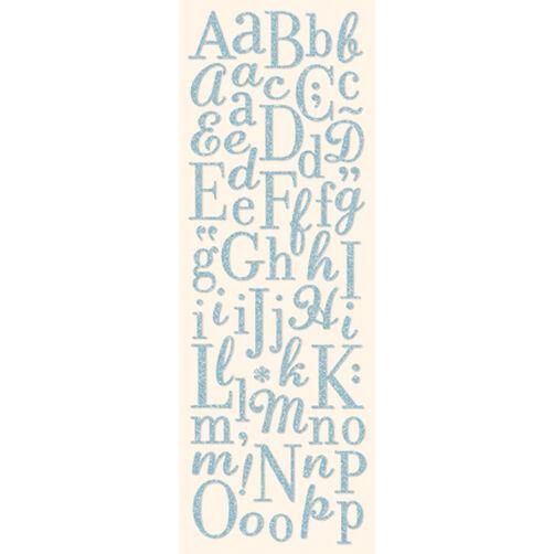 Light Blue Die-Cut Glitter Alphabet Stickers_567030