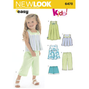 New Look Pattern 6473 Toddler's Separates