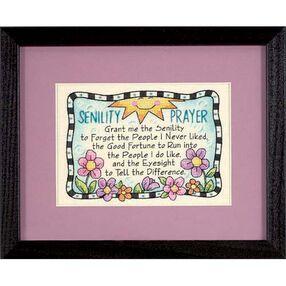 Senility Prayer, Stamped Cross Stitch_06945