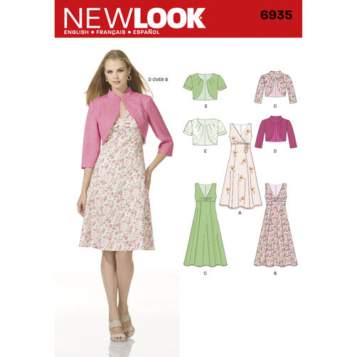 New Look Pattern 6935 Misses Dresses