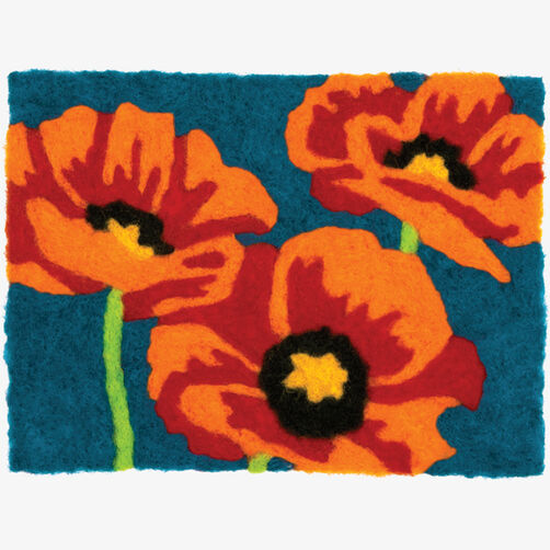 Poppies Needle Felting Art_72-73892