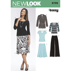 New Look Pattern 6735 Misses' Separates