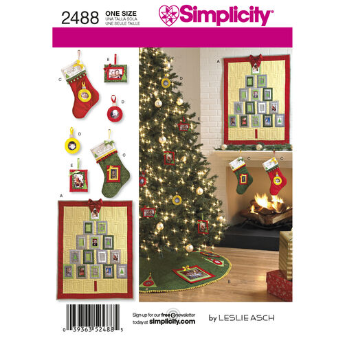 Simplicity Pattern 2488 Holiday Crafts