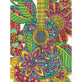 Blooming Guitar, Pencil by Number_73-91537