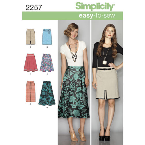Simplicity Pattern 2257 Misses' Easy-to-Sew Skirts