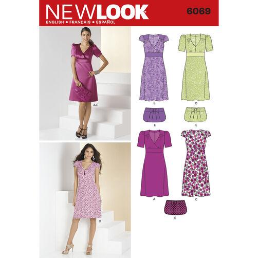 New Look Pattern 6069 Misses' Dresses