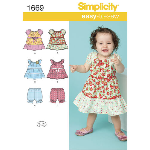 Simplicity Pattern 1669 Babies' Dress and Separates