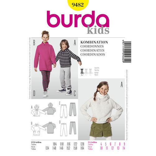 Burda Style Pattern 9482 Coordinates