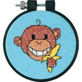 Monkey, Stamped Cross Stitch_73266