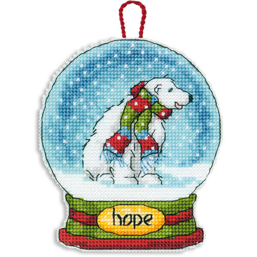 Hope Snow Globe Ornament in Counted Cross Stitch_70-08906