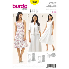 Burda Style Pattern 6687 Women's Dress and  Jacket