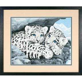 Snow Leopard Cubs, Paint by Number_91079