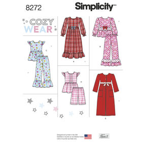 Simplicity Pattern 8272 Child's and Girl's Sleepwear and Robe