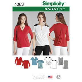 Simplicity Pattern 1063 Misses' Knit Tops