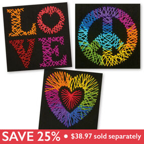 Love, Peace & Heart Bundle, Yarn Art_049901