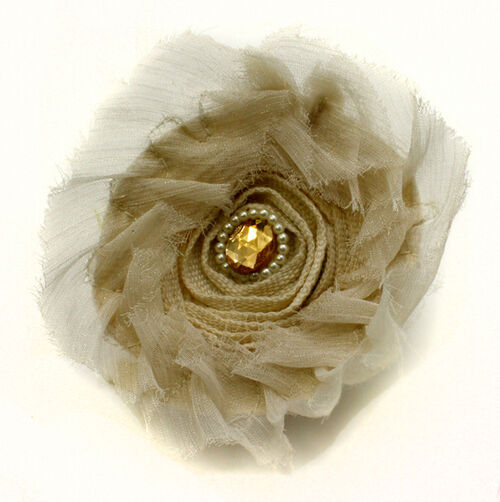Lace & Pearl Pin & Clip Flower_56-63010