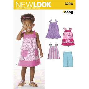 New Look Pattern 6796 Toddler Separates