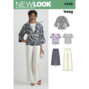 Pattern 6438 Misses' Easy Pants, Kimono, and Top