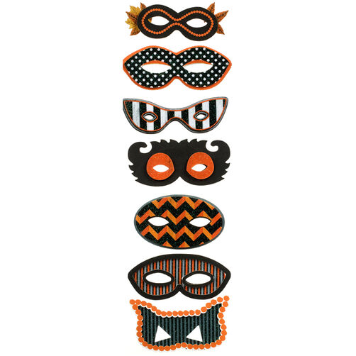 Animal Masquerade Mask Stickers_48-20286