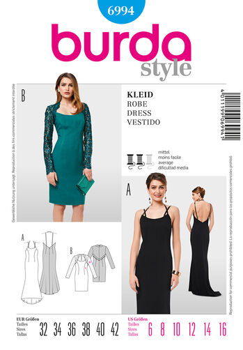 Burda Style Pattern 6994 Dress