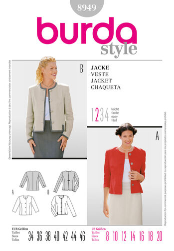 Burda Style Pattern 8949 Jacket