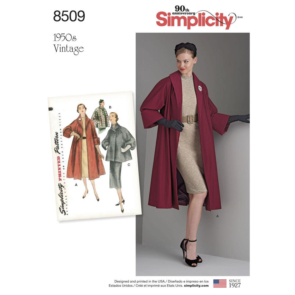 Simplicity Pattern 8509 Misses Vintage Coat Or Jacket
