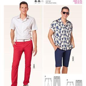 Burda Style Pattern 6815 Menswear, Sportswear