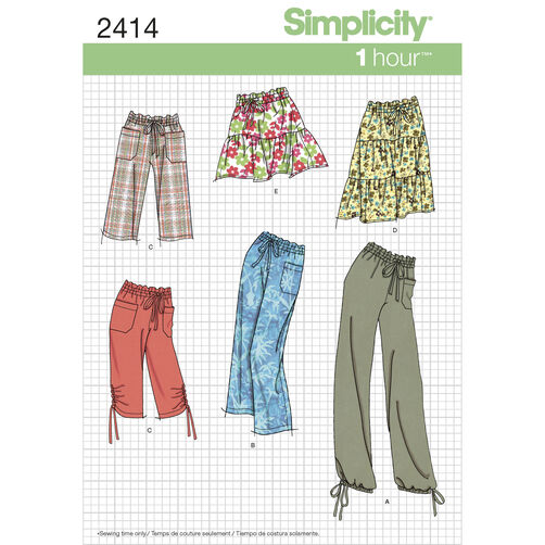 Simplicity Pattern 2414 Misses Skirt & Pants