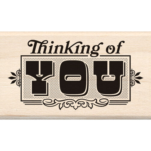 Thinking of You Wood Stamp_60-00962