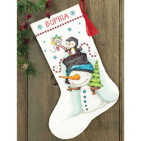 Jolly Trio Stocking, Counted Cross Stitch_70-08937