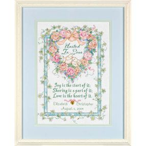 United in Love Wedding Record, Counted Cross Stitch_35125