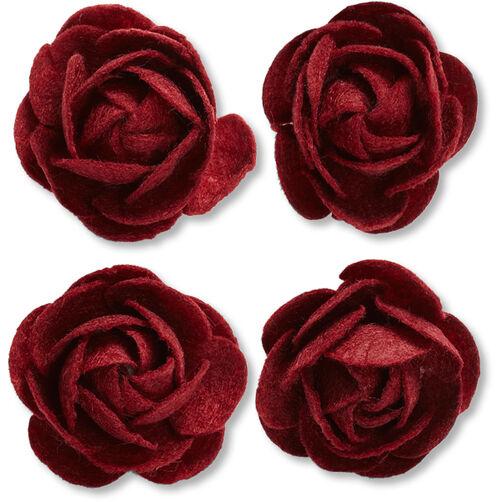 Maroon Felt Rose Embellishments_50-60312