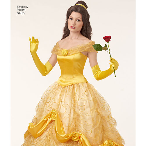 simplicity pattern 8406 disney beauty and the beast