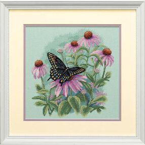 Butterfly & Daisies, Counted Cross Stitch_35249