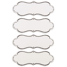White Decorative Shape Chalkboard Labels_30-698475