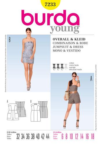 Burda Style Pattern 7233 Jumpsuit& Dress